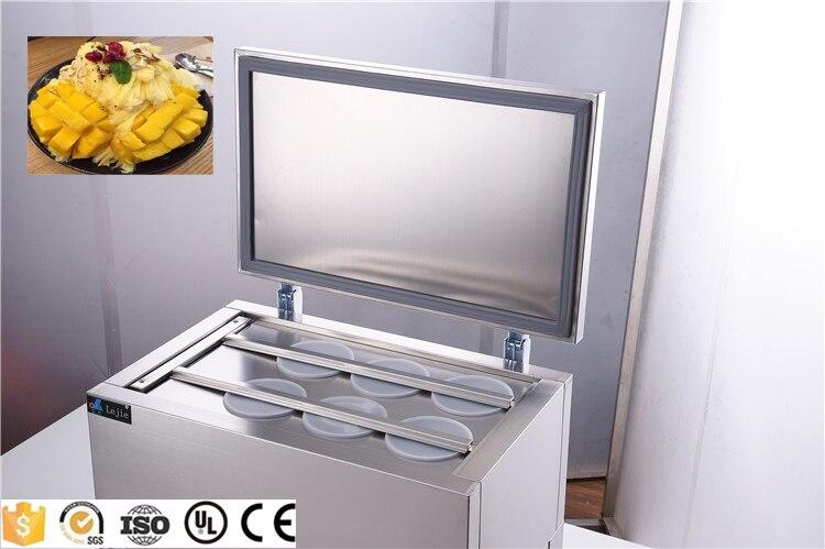Desconto!!! 6 tanques de neve máquina de gelo máquina de barbear de gelo automático máquina de gelo contínuo