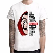 T shirt erkekler Komik Tasarım La Casa De Papel T Shirt Para Heist Tees TV Dizisi Gömlek Erkekler Kısa Kollu ev Kağıt T-Shirt