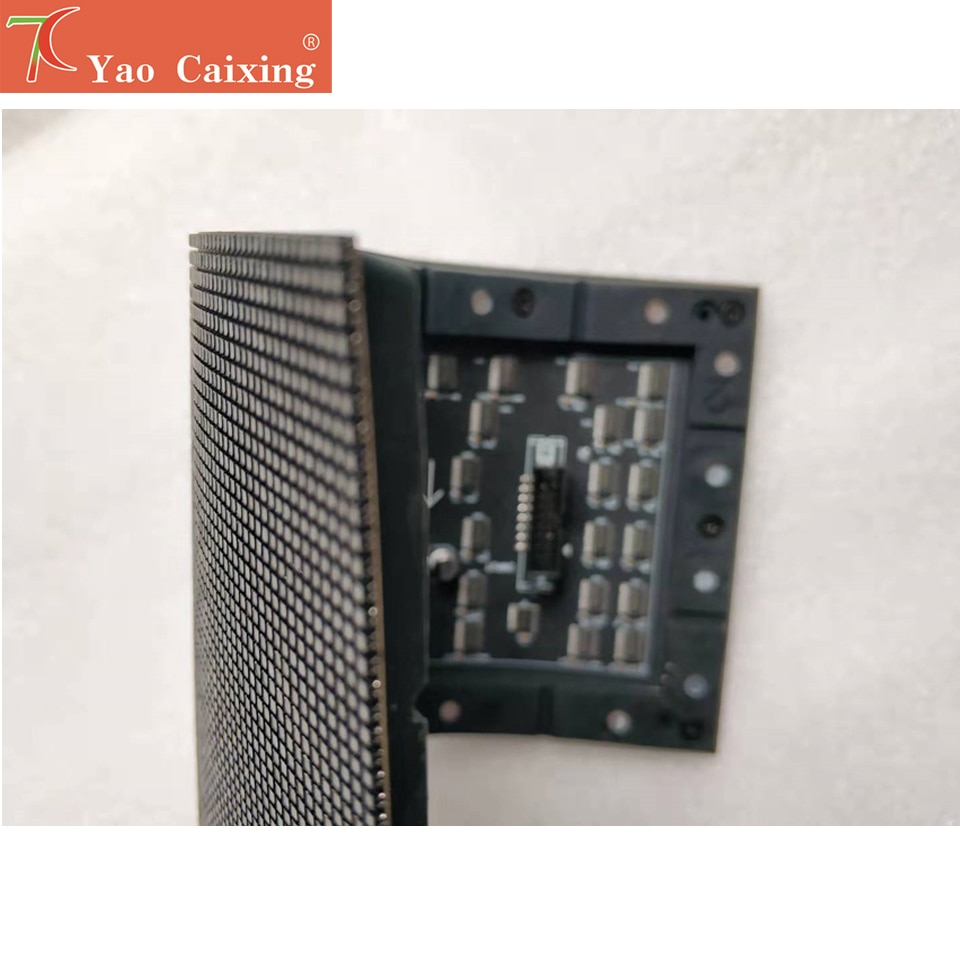 yao caixing 120x60 dots P2 indoor matrix rgb color smd board flexible panel shipping free led sign display screen tv soft board