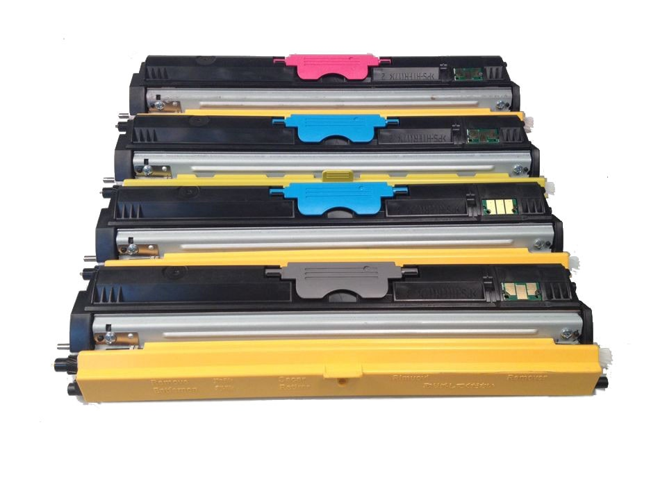 4 حزمة متوافق كونيكا مينولتا 1600 1600W KM1600 1650 1680 1690 لون الحبر خرطوشة A0V301H A0V30HH A0V30CH A0V306H