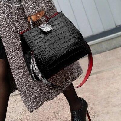 حقائب يد جلدية منقوشة للنساء ، جودة عالية ، مثيرة ، نمط بوا ، حقيبة كتف ، حقيبة حمل ، مجموعة جديدة