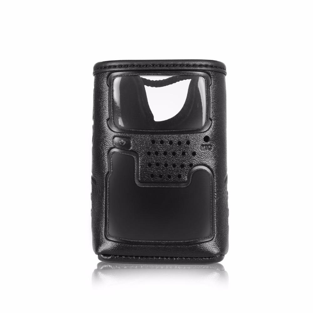 CSC-91 мягкий кожаный чехол для walkie talkie Yaesu VX-6R, VX-6E двухстороннее радио