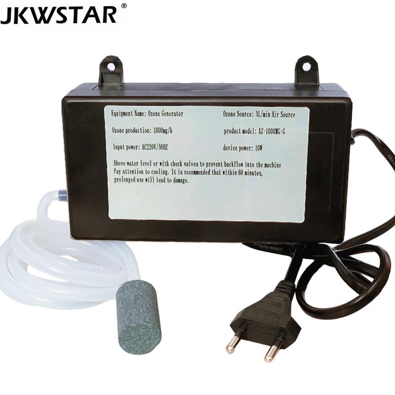 Ozonizador de 1000mg generador de ozono purificador de aire de agua de ozono disuelto esterilizador limpiador tratamiento fruta pescado desinfectante esterilizat