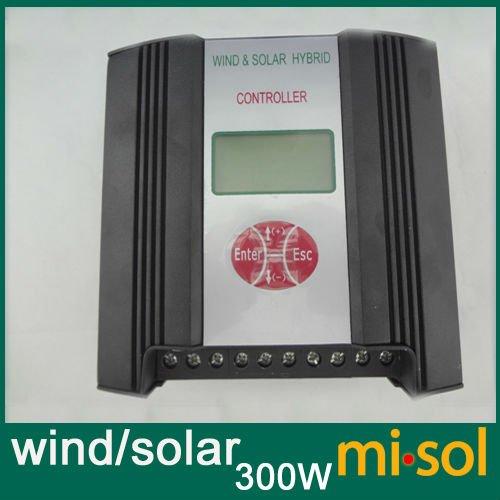 Controlador de carga Solar de viento híbrido regulador de 300 W, 12 V, controlador de carga de viento