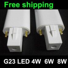 G23 LED tube lumière 4W 6W 8W tube SMD 2835 G23 lampe à LED Taiwan Epistar g23 lumière LED ampoule tube PL lampe ce rohs