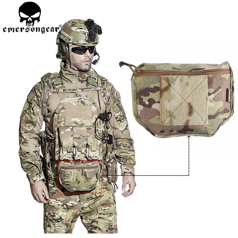 EMERSONGEAR Rüstung Träger Tropfen Beutel AVS GPA CPC Taktische Dump Pouch Airsoft Plate Carrier Werkzeugtasche Pouch Multicam EM9283