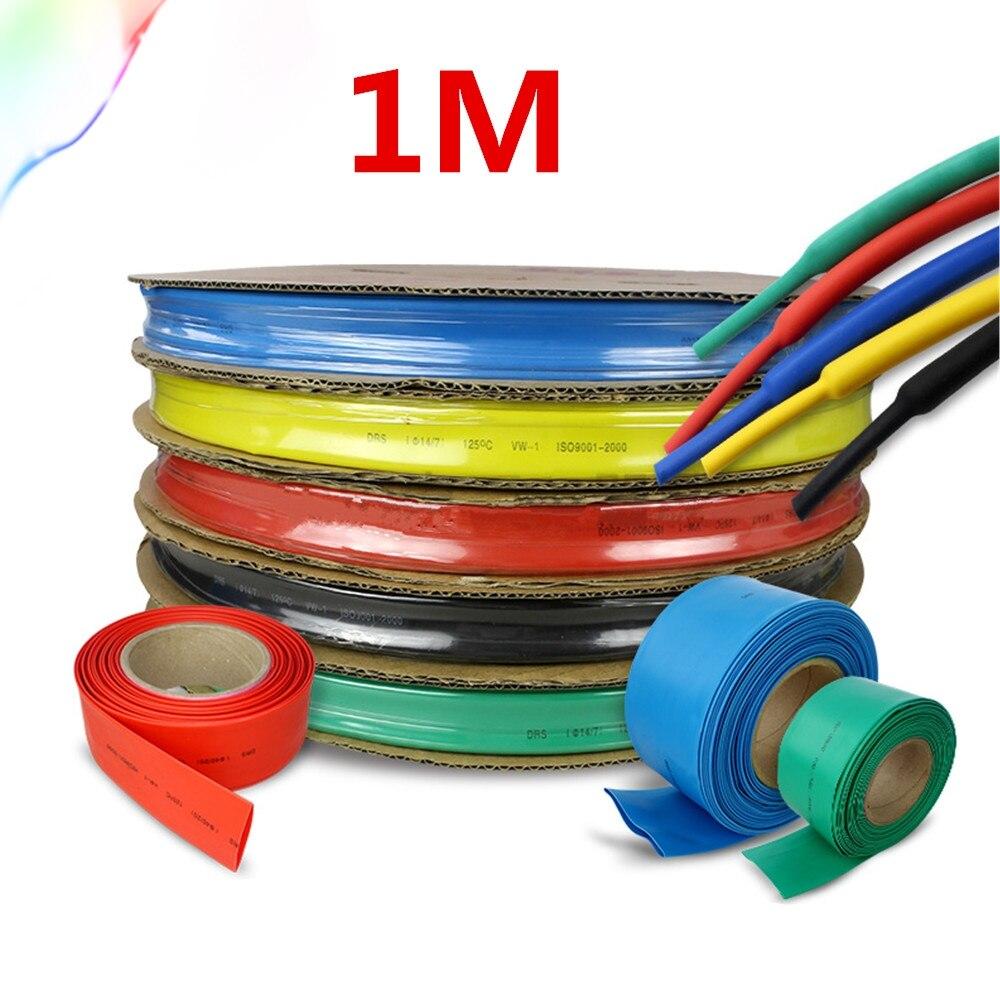 1 meter/los 2:1 farben 1 2 3 5 6 8 10mm Durchmesser Schrumpf Heatshrink Schläuche Rohr Sleeving Wrap draht DIY Connector Reparatur