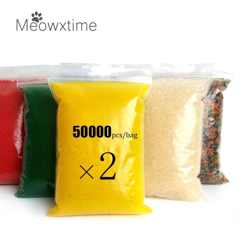 100000 قطعة/الحقيبة هيدروجيل اللؤلؤ على شكل الكريستال التربة المياه الخرز Orbiz هلام الكرة ل زهرة/التعشيب الطين تزايد سحر جيلي كرات