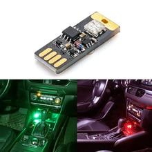 Coche USB RGB atmósfera Interior de Control de luz LED para vw polo golf 4 5 5 5 6 6 7 touran Jetta MK5 MK6 MK7 Tiguan passat b6 b7