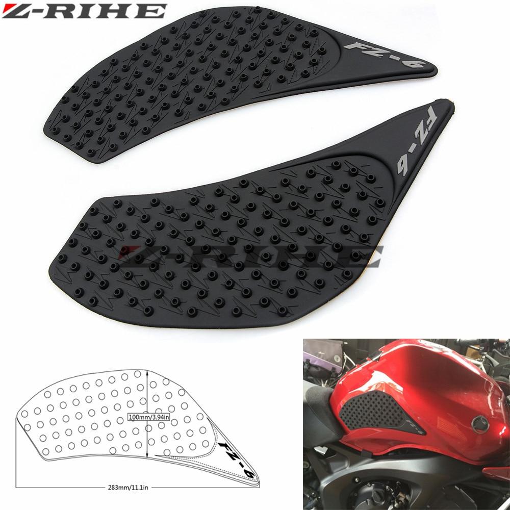 For Yamaha FZ6N 2006 2007 2008 2009 2010 FZ 6N FZ6 N Protector Anti slip Tank Pad Sticker Gas Knee Grip Traction Side 3M Decal