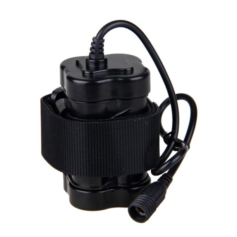8,4 V 12000mAh pack de batería recargable batería 4x18650 para la cabeza de la lámpara Luz de bicicleta