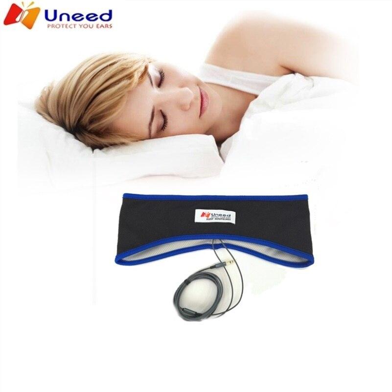 Удобные наушники для сна Uneed, тонкая спортивная повязка на голову с лайкрой, плетеная нить, маска для сна