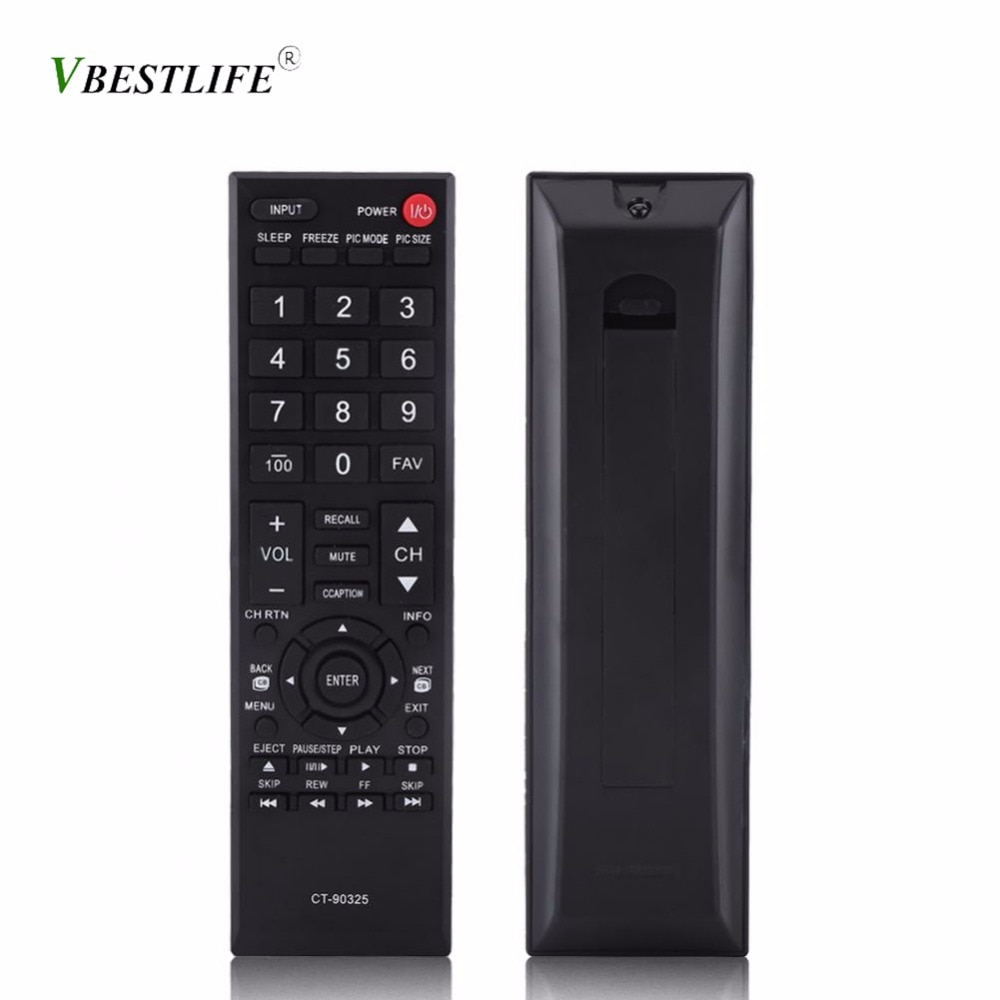 VBESTLIFE Control remoto para Toshiba LED LCD Smart TV CT-90326 CT-90325 CT-90351 CT-90329 CT-90351 CT-90329 CT-90380 CT-90386