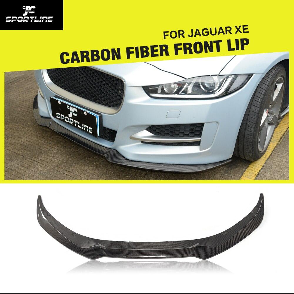 Carbon Fiber / FRP Front Bumper Lip Spoiler Splitters for Jaguar XE Sedan 4-Door 2015 2016 2017