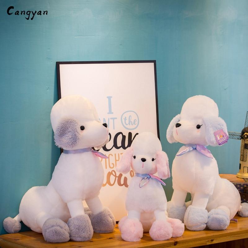 Long-eared poodle Linda VIP perro de peluche de juguete animal muñeca de la muñeca de los niños jugar con los niños de vacaciones regalo niño niña