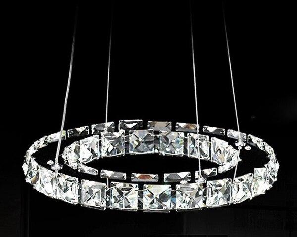 Promoción 40 cm Raimond anillo araña de cristal iluminación Led de lujo redondo 1 capa de cristal lámpara colgante para el hogar envío gratis