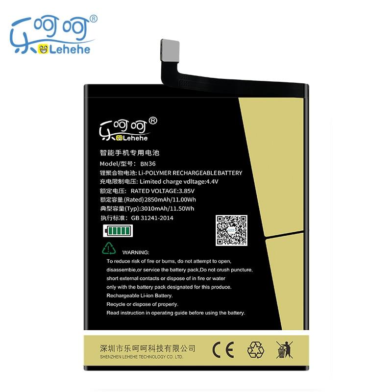 Batería Original LEHEHE BN36 para Xiaomi Mi 6X 3010mAh batería de repuesto con herramientas de regalo