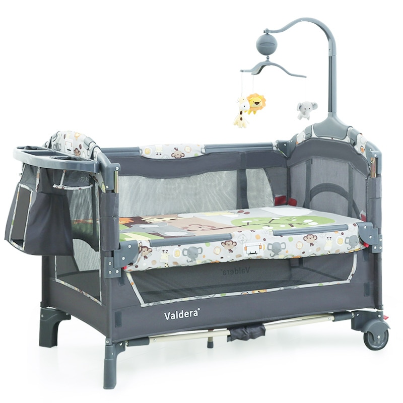 Portable Baby Convertible Crib,Travel Infant Bassinet Bed for Newborn