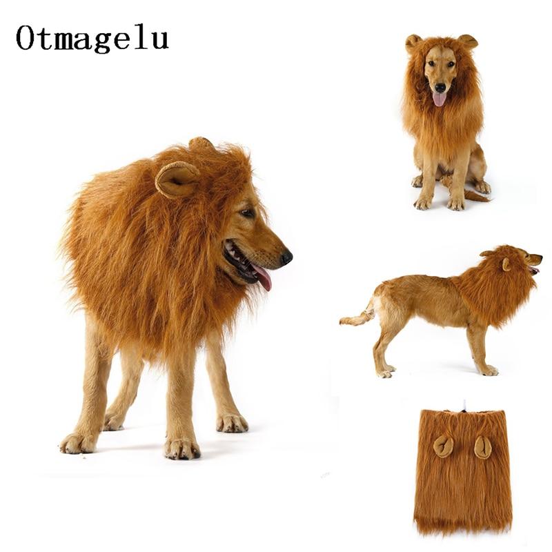 Cute Pet Dog Cat Cosplay Clothes Transfiguration Costume Lion Mane Warm Wig Large Dog Party Decorati