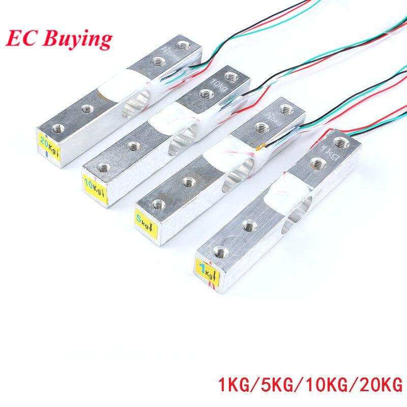 Датчик веса 1 кг 5кг 10кг 20кг HX711 Модуль электронные весы из алюминиевого сплава датчик давления для взвешивания