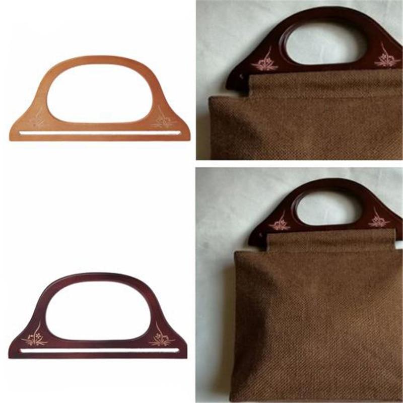 2019 New High Quality Wooden Handle For Handmade Bag Handbag DIY Bags Purse Handle Handcraft Supplies Bag Accessary