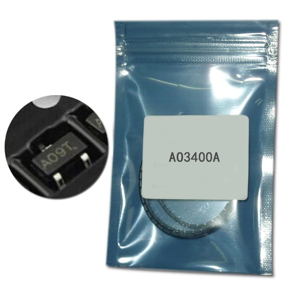 100Pcs/lot AO3400A SOT-23 N-Channel smd transistor kit AO3400 SOT-23-3L mosfet transistor 5.7A 1.4W SMD transistor set