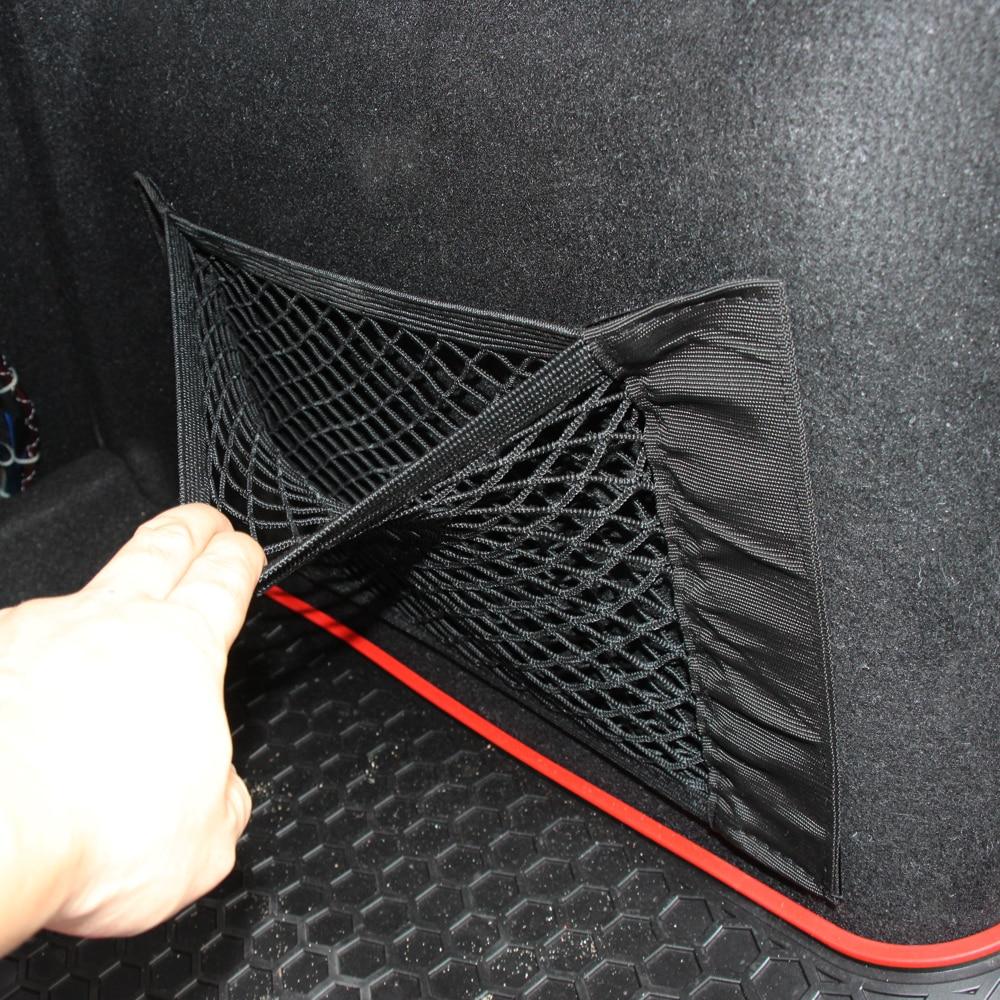 Red de carga para maletero de coche, pegatina mágica, bolsa de malla para Oganizer, red de carga para Honda Accord Civic CR-V Crosstour Fit Odyssey Pilot