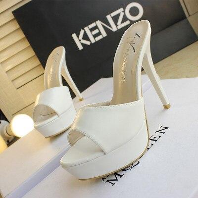 Sandalias con plataforma para mujer, zapatos de tacón fino, Ultra tacones altos, 12 CM, sandalias sexis con punta abierta para discoteca, Zapatos, zapatillas para mujer