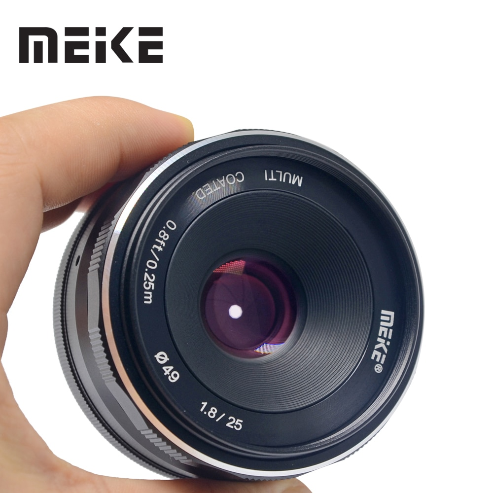 Meike 25mm f/1.8 Large Aperture Wide Angle Manual Focus Lens for Fujifilm fuji X-mount XT3 XT20 XT30 X100F XE3 X-Pro2 with APS-C