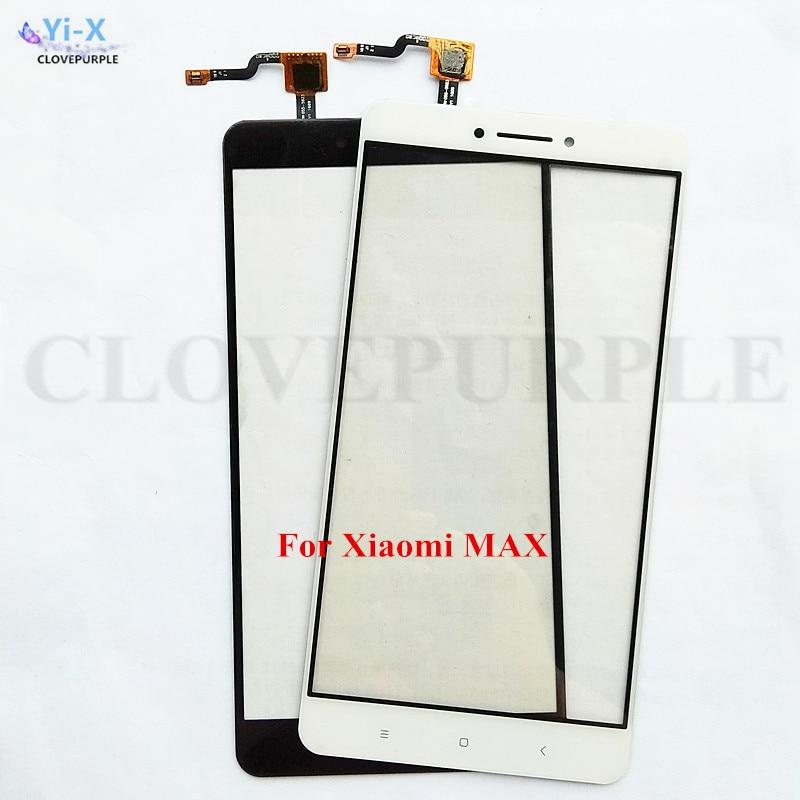 1 pieza de pantalla táctil de lente de cristal frontal de teléfono móvil para Xiaomi mi Max Xiaomi Max pantalla táctil Panel digitalizador piezas de repuesto