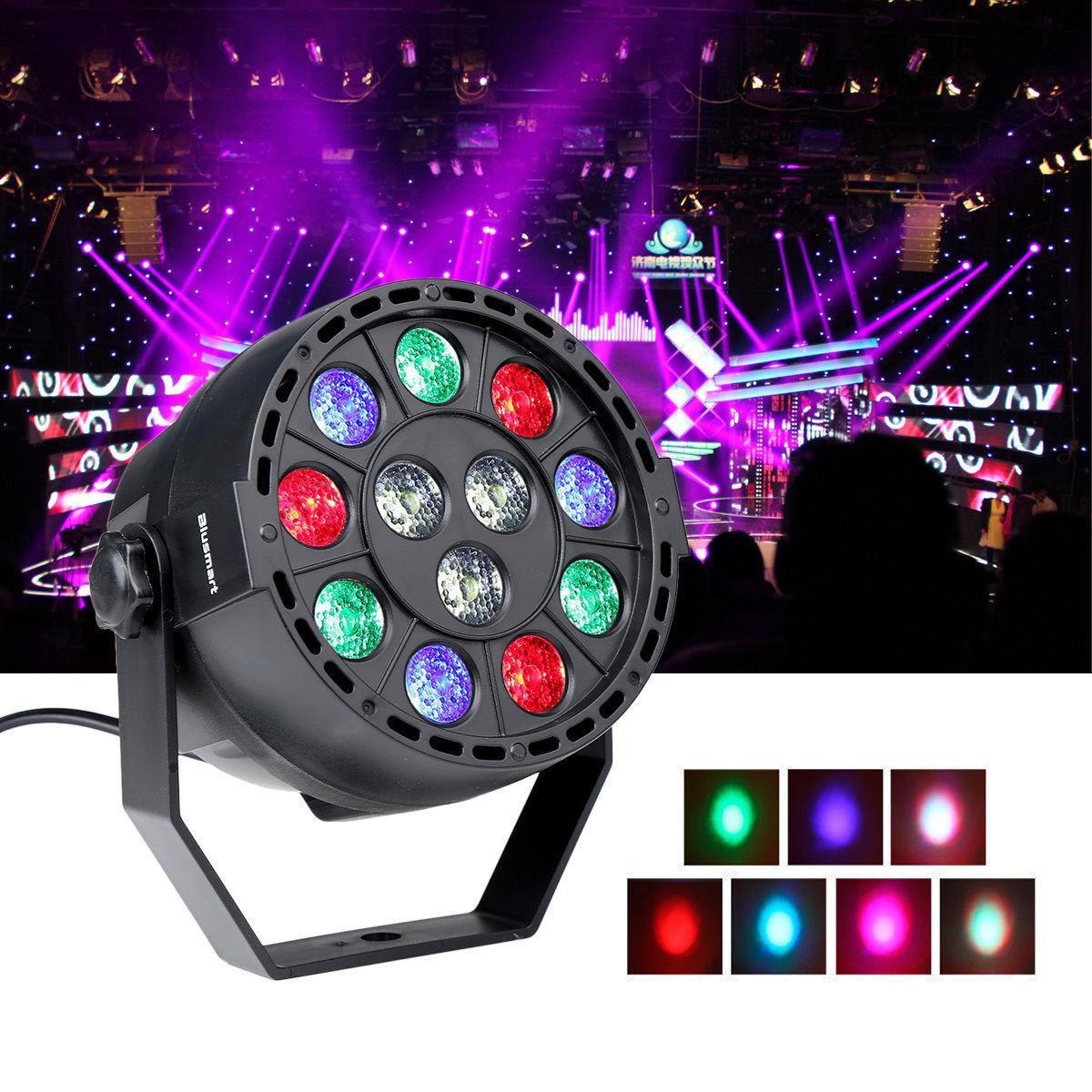 Disco DJ luz DMX512 luces de fiesta RGBW LED de alta potencia etapa PAR luz estroboscópica 8 canales fiesta Disco Show 30W AC 90-240V