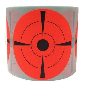 "Target Stickers Adhesive Shooting Target Labels Red Orange Labels(Qty 250 PCs/Roll 3"") Reactive Shooting Training Practice Gun"