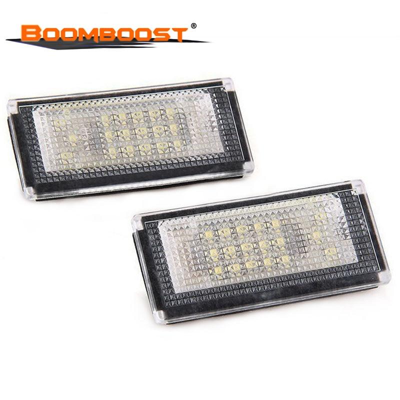 Acessórios 2X12 V Número Da Placa Da Lâmpada Kit Lâmpada LED SMD Branco Car LED Luzes Da Placa de Licença Para BMW mini Cooper S R50 R52 R53