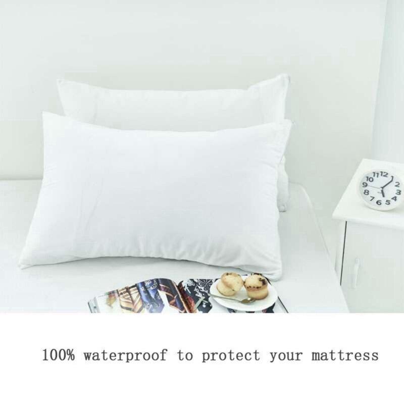 2 stks/partij Terry Waterdichte Kussen Protector Dust Mijt Bacteriën Allergie Controle Bed Bug Proof Kussensloop Home Hotel Kussensloop