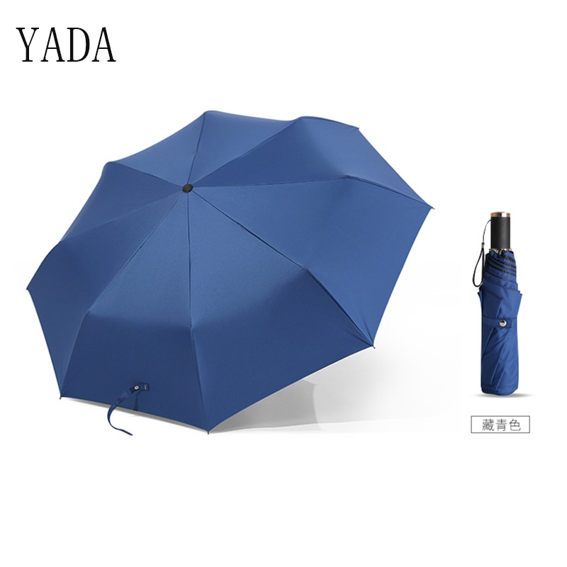 Qualidade para Homens Mulheres à Prova de Vento uv de Alta Yada Encantos Sólida Umbrella Mulheres Chuva Dobrável Guarda-chuva & Guarda-sóis Ys197 Cor