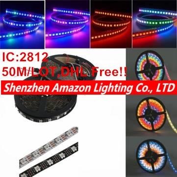 50 m/lote DC 5 V WS2812B 2812 IC 60 LEDs/M SMD 5050 RGB Led de luz de tira direccionable sueño tira de píxeles LED de Color, no-waderproof