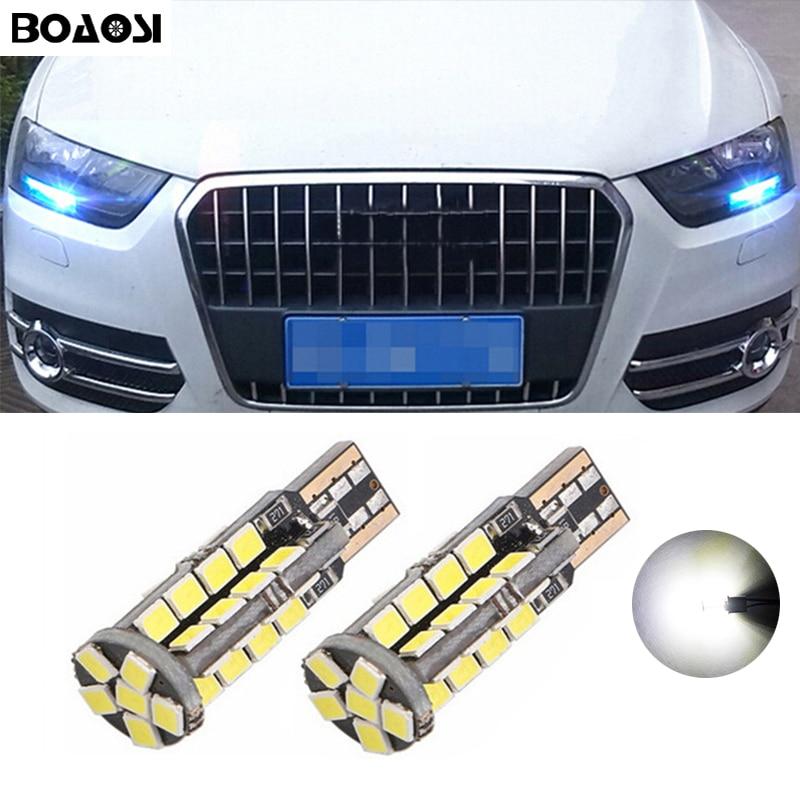 BOAOSI 2x Автомобильный светодиодный светильник T10 Canbus W5W без ошибок для AUDI A2 A3 8L 8P A4 B5 A6 4B 4F A8 D2 TT Q3 Q5 Q7 C5 C6 C7 S2 S4