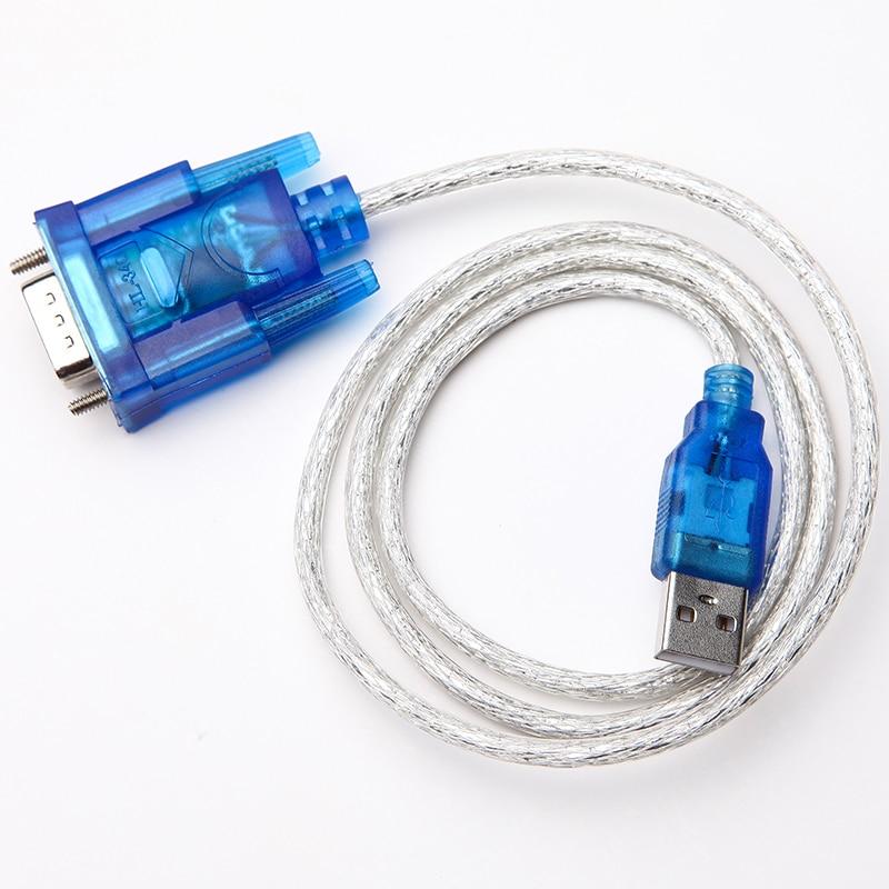5 unids/lote HL-340 puerto USB a RS232 COM Serial PDA 9 pin DB9 macho Puerto adaptador soporte Windows7 64