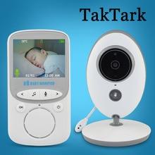 Monitor inalámbrico TakTark de 2,4 pulgadas para bebé, cámara a Color, intercomunicador, visión nocturna, monitoreo de temperatura, niñera