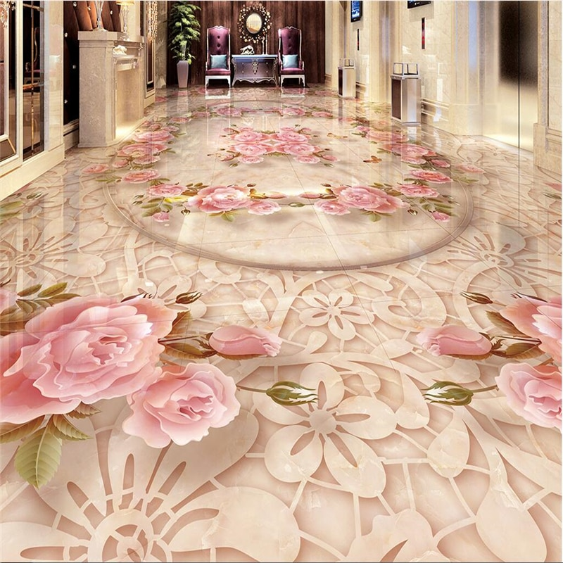 beibehang Photo floor wallpaper 3d stereoscopic STONE marble floor 3D Beach floor murals in wall stickers 3d floor wallpapers