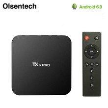 TX5 Pro TV Box Bluetooth 4.0 2GB 16GB H.265 Quad Core Amlogic S905X Android 6.0 2.4G 5.8G WIFI Smart Set Top Box PK X96 H96 Pro+