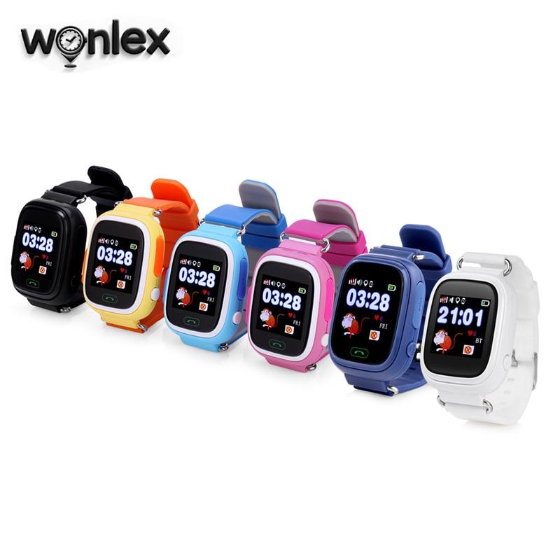 Wonlex Venta caliente niños GPS reloj MTK2503 pantalla táctil niño Google Map SOS botón reloj para niños LBS/GPS/Wifi localizador