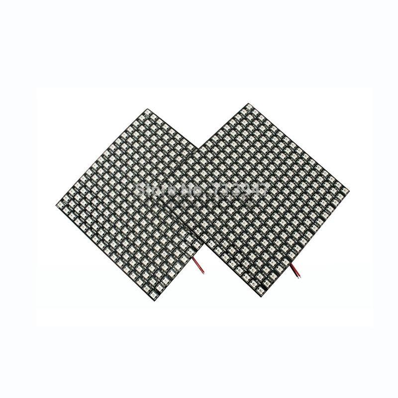 1 x matriz LED de alta calidad WS2812B 14*14 píxeles/30*20 píxeles/28*28 píxeles pantalla con placa de fibra envío gratis