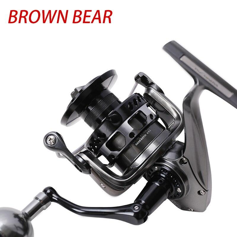 Tsurinoya Spinning Reel BROWN BEAR 4000 5000 6000 7000 10BB/5.2:1 4.9:1/12-20kg Saltwater Fishing Reel Carretilha Moulinet Peche enlarge
