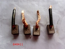 10 adet/grup Elektrikli Karbon Fırçalar Suzuki Marş Motoru (6*8*11mm)