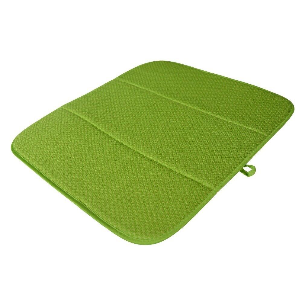 Hohe Qualität 16 zoll x 18 zoll Waffel Weben Teller Trocknen Matte Für Küche Mikrofaser Kissen Pad XL-Creme