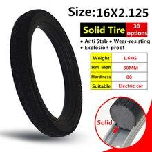 16*2,125 дюймов твердые шины для велосипеда и велосипеда шины 16x2,125 с шины для горного велосипеда