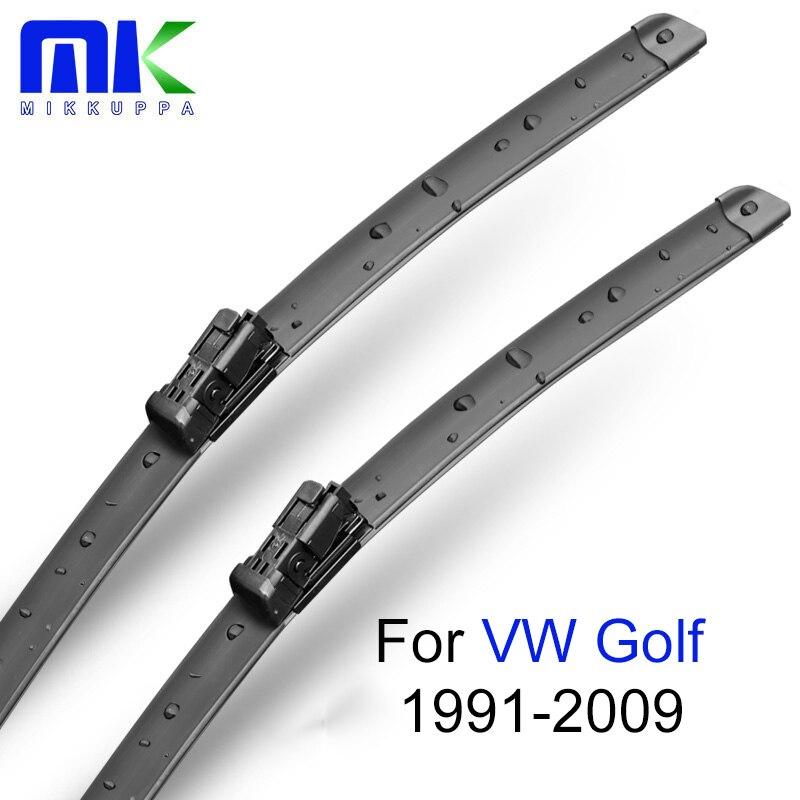 Escobillas de limpiaparabrisas Mikkuppa para VW Golf MK3 MK4 MK5 MK6 MK7 Plus 1991-2005 2006 2007 2008 2009 accesorios de goma para parabrisas de coche