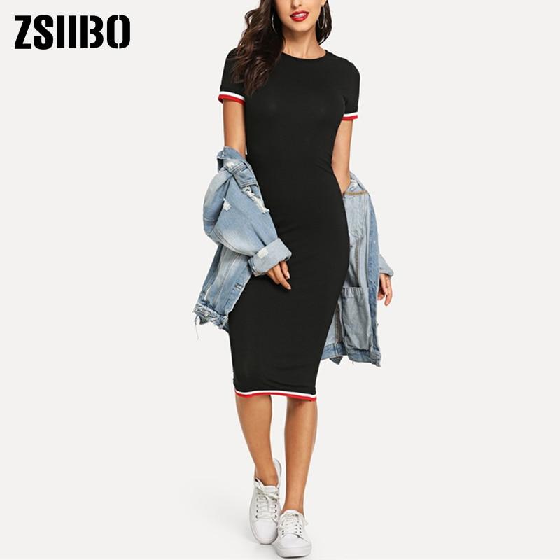 Летние платья, женские облегающие боди с круглым вырезом, сумка до колена, облегающая женская одежда, платье, одежда, Прямая поставка