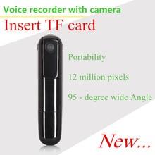 Insérer la carte TF IDV enregistreur vocal C8 mini caméra HD enregistrement 1080 P/720 P 30FPS 170 grand degré 8 millions HD de haut niveau